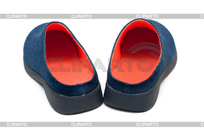Pair baby footwear with orange insole | High resolution stock photo |ID 3307929