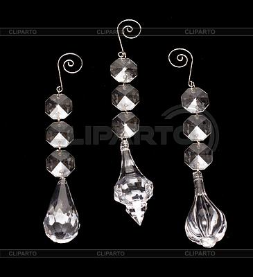Nowy rok `s szklane ozdoby | Foto stockowe wysokiej rozdzielczości |ID 3308049