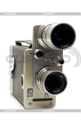 Stare filmu z kamery 16 mm z dwoma obiektywami   Foto stockowe wysokiej rozdzielczości  ID 3308063
