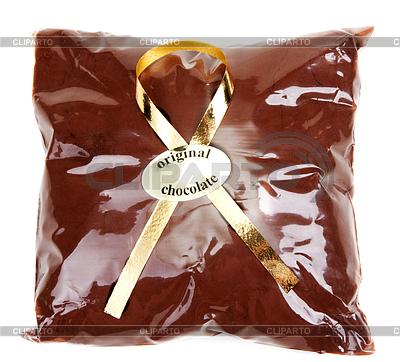 선물 포장과 황금 테이프에 초콜릿 가루 | 높은 해상도 사진 |ID 3310504