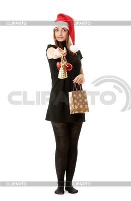 Santa girl hat   High resolution stock photo  ID 3310920