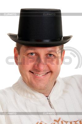 Portret mężczyzny w meloniku | Foto stockowe wysokiej rozdzielczości |ID 3335157
