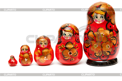 Russian nesting dolls | High resolution stock photo |ID 3335418