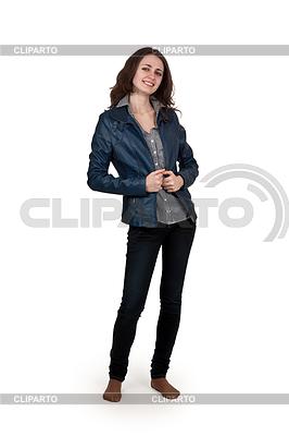 女孩在皮夹克 | 高分辨率照片 |ID 3336164