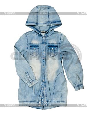 Blue denim jacket with hood   High resolution stock photo  ID 3336907