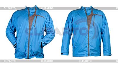 Un collage de dos azules chaqueta deportiva | Foto de alta resolución |ID 3337386