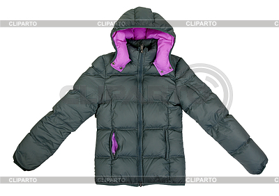 Female gray winter jacket with hood | High resolution stock photo |ID 3339293