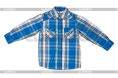Blue checkered shirt | High resolution stock photo |ID 3339445