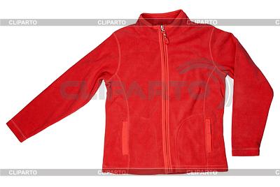 Red fleece jacket | High resolution stock photo |ID 3339446