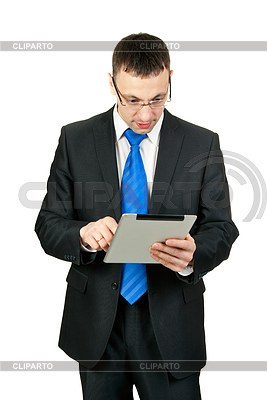 Businessman with tablet computer | High resolution stock photo |ID 3339509