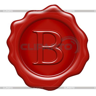 Восковая печать с буквицей B | Иллюстрация большого размера |ID 3050093