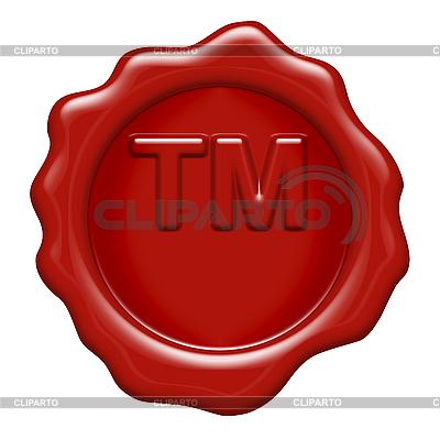 Woskową pieczęcią z list znaku towarowego oznaczenia | Stockowa ilustracja wysokiej rozdzielczości |ID 3050094