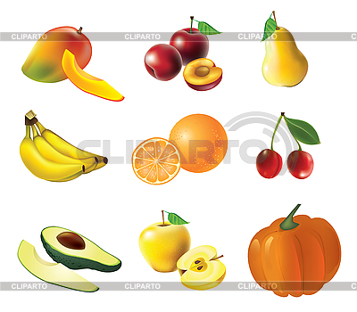 Set of fruits and vegetables | Stock Vector Graphics |ID 3050904