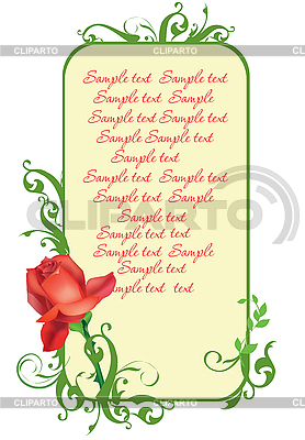 Frame with rose | Stock Vector Graphics |ID 3052114