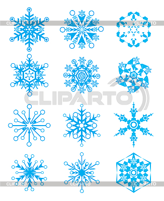 Снежинки | Векторный клипарт |ID 3052120