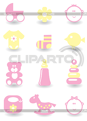 Set of baby icons | Stock Vector Graphics |ID 3055804