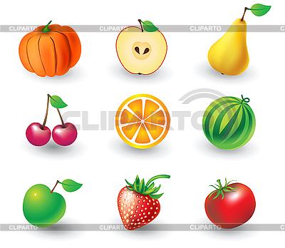 Zestaw owoców | Klipart wektorowy |ID 3055937