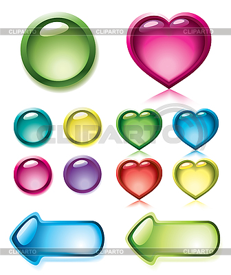 Set of glossy buttons | Stock Vector Graphics |ID 3067597