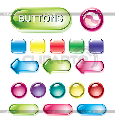 Set of glossy buttons | Stock Vector Graphics |ID 3067599
