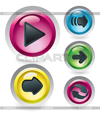 Set of glossy buttons | Stock Vector Graphics |ID 3067601