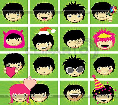 Emotionen auf dem Jungen-Gesicht | Stock Vektorgrafik |ID 3067755