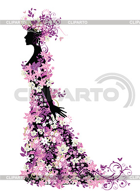 Woman of flowers | Stock Vector Graphics |ID 3067761