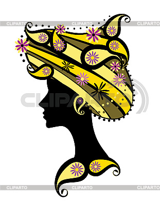 Decorative silhouette of woman with flowers | Stock Vector Graphics |ID 3067775