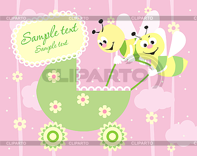 Baby arrival announcement card | Stock Vector Graphics |ID 3074450