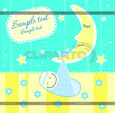 Baby arrival announcement card | Stock Vector Graphics |ID 3074458