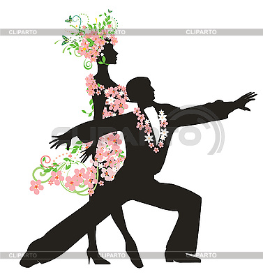 Sylwetka taniec para   Klipart wektorowy  ID 3074490