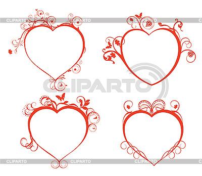 Schöne Herzen für Design | Stock Vektorgrafik |ID 3074522