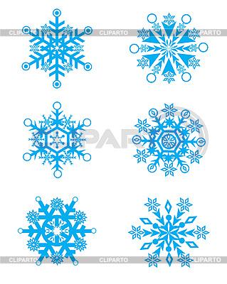Christmas Holiday Set of Snowflakes | Stock Vector Graphics |ID 3074564