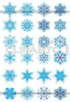 Christmas Holiday Set of Snowflakes | Stock Vector Graphics |ID 3074568