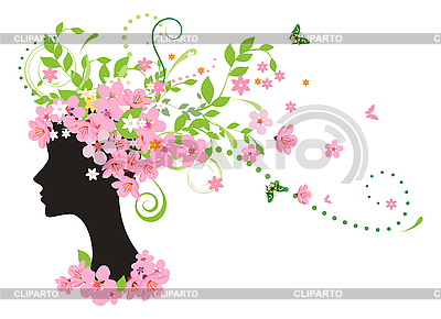 Wiosną kobieta | Klipart wektorowy |ID 3074574