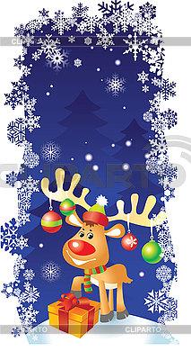 Christmas card with deer | Stock Vector Graphics |ID 3074600