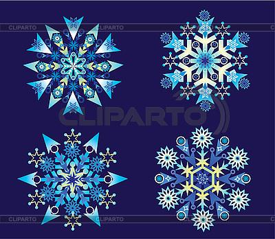 Christmas Holiday Set of Snowflakes | Stock Vector Graphics |ID 3074616