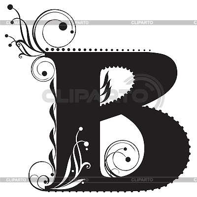 decorative letter b capital letters serie of high quality graphics 21329