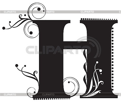 Capital letters serie of high quality graphics cliparto 7 decorative letter with flowers for design yelena panyukova altavistaventures Choice Image