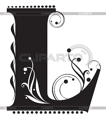 Initial letter L | Stock Vector Graphics |ID 3075597