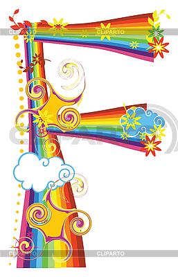 Rainbow letter F   Stock Vector Graphics  ID 3076162