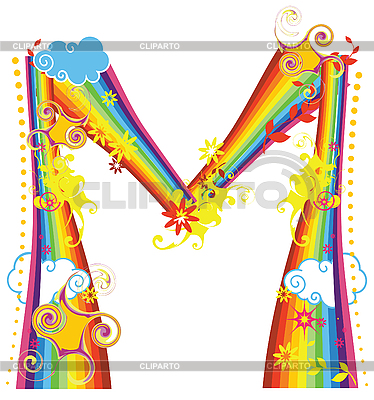 Rainbow letter M | Stock Vector Graphics |ID 3076178
