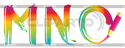 Set of rainbow letters MNO | Stock Vector Graphics |ID 3076180