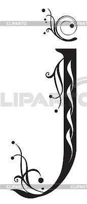 Декоративная буквица J | Векторный клипарт |ID 3076289