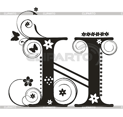 Capital letters serie of high quality graphics cliparto decorative letter with flowers for design yelena panyukova altavistaventures Choice Image