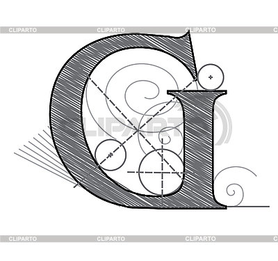 Dekorativer Buchstabe G | Stock Vektorgrafik |ID 3077884