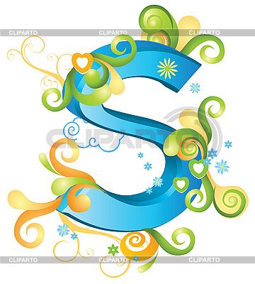 Decorative Letter S Stock Vector Graphics Cliparto