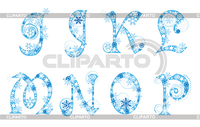 Christmas alphabet with snowflakes | Stock Vector Graphics |ID 3078055