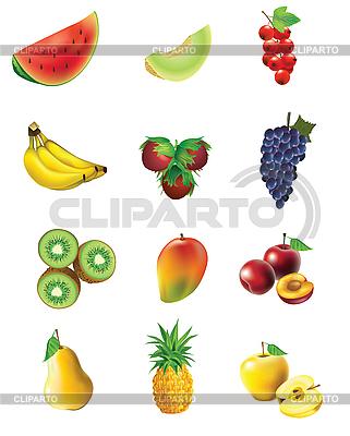 Zestaw z owoców i warzyw | Klipart wektorowy |ID 3081854