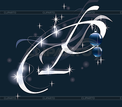 Decorative Letter With Decorations For Christmas Design