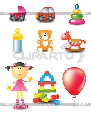 Toy icons | Stock Vector Graphics |ID 3365925